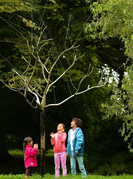les trois enfants se laissent mouiller par l'arbre de cristal...en quête de sagesse ?