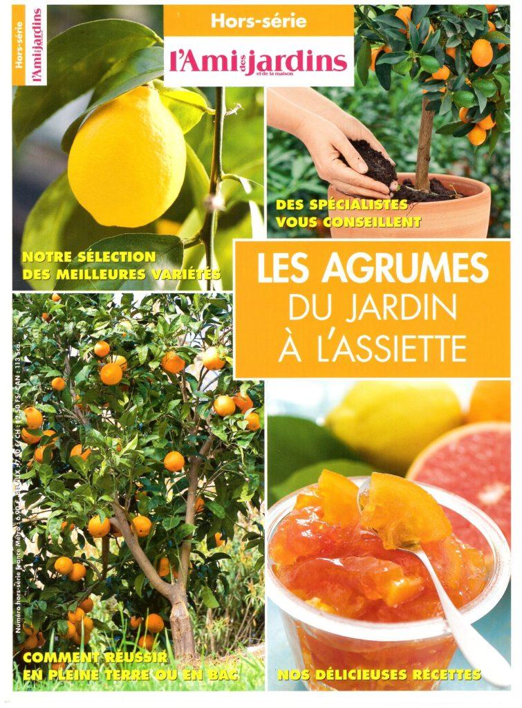 Couverture du hors-série de l'Ami des jardins et de la maison consacré aux agrumes.