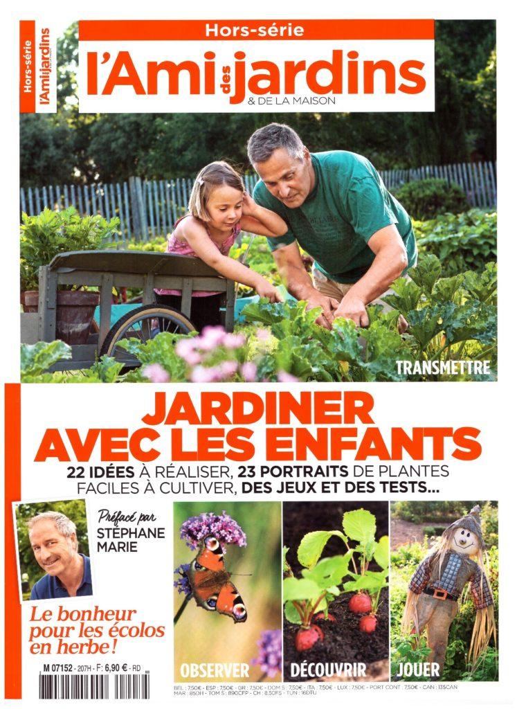 Couverture du hors-série de l'Ami des jardins et de la maison consacré au jardinage avec les enfants..