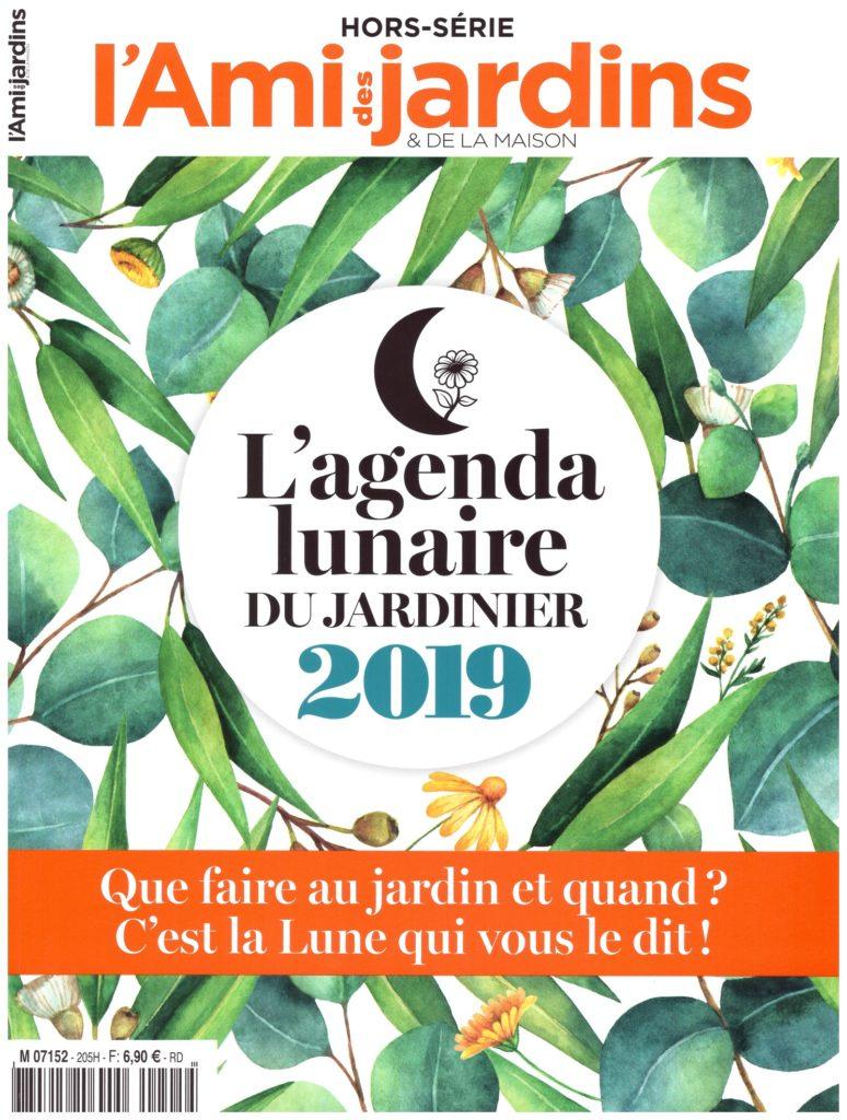 Couverture de l'Agenda lunaire du jardinier 2019 - Ami des jardins et de la maison.