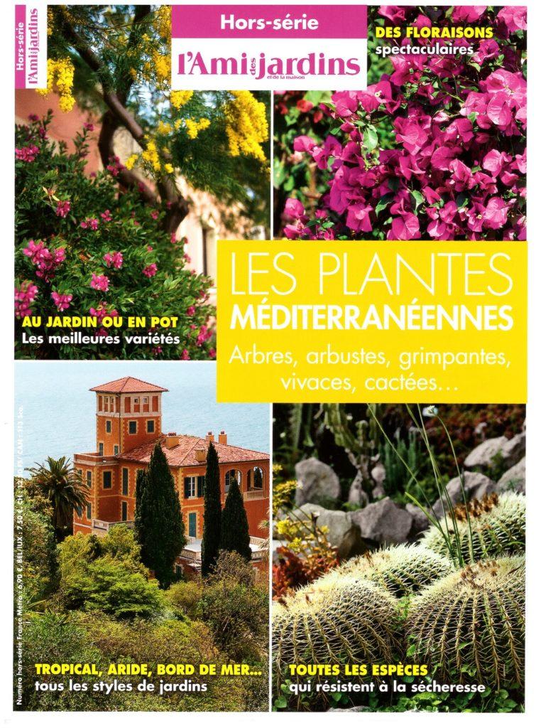 Couverture du hors-série de l'Ami des jardins et de la maison consacré aux plantes méditerranéennes.