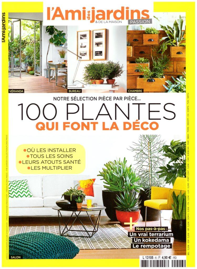 Couverture du hors-série de l'Ami des jardins et de la maison consacré aux plantes d'intérieur dans la déco.