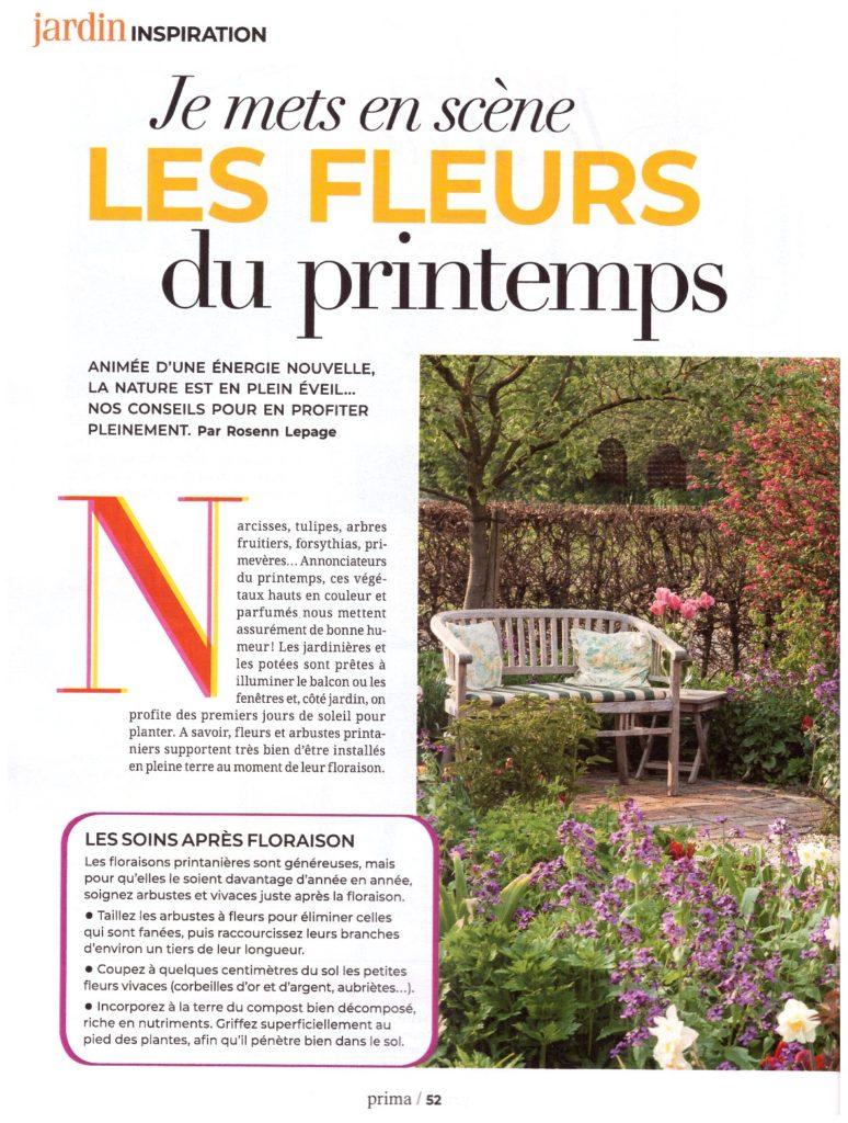 Article PRIMA avril 2019 - Les fleurs de printemps page 01